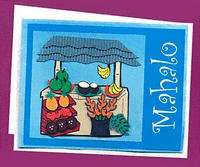 Mahalo Fruitstand Greeting Card