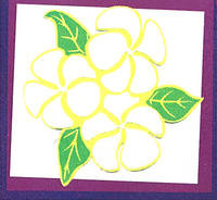 Plumeria Yellow Laser Cut