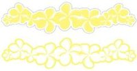 Plumeria Lemon Laser Cut Border