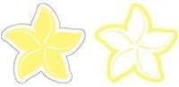 Retro Plumeria Lemon Laser Cut