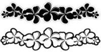 Plumeria Black Laser Cut Border