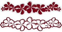 Plumeria Rouge Laser Cut Border