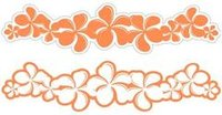 Plumeria Carrot Laser Cut Border
