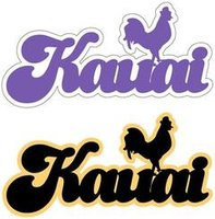 Kauai with Chicken Laser Cut