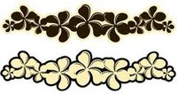 Plumeria Coffee Laser Cut Border