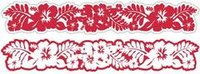 Hibiscus Crimson Laser Cut Border