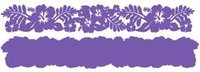 Hibiscus Grape on Grape Laser Cut Border